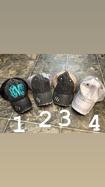Monogram Me Distressed Hat