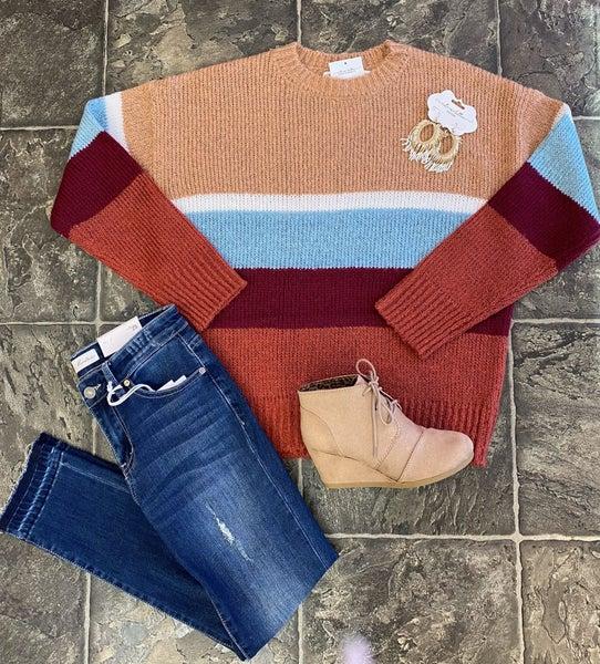 Sweet in stripes sweater