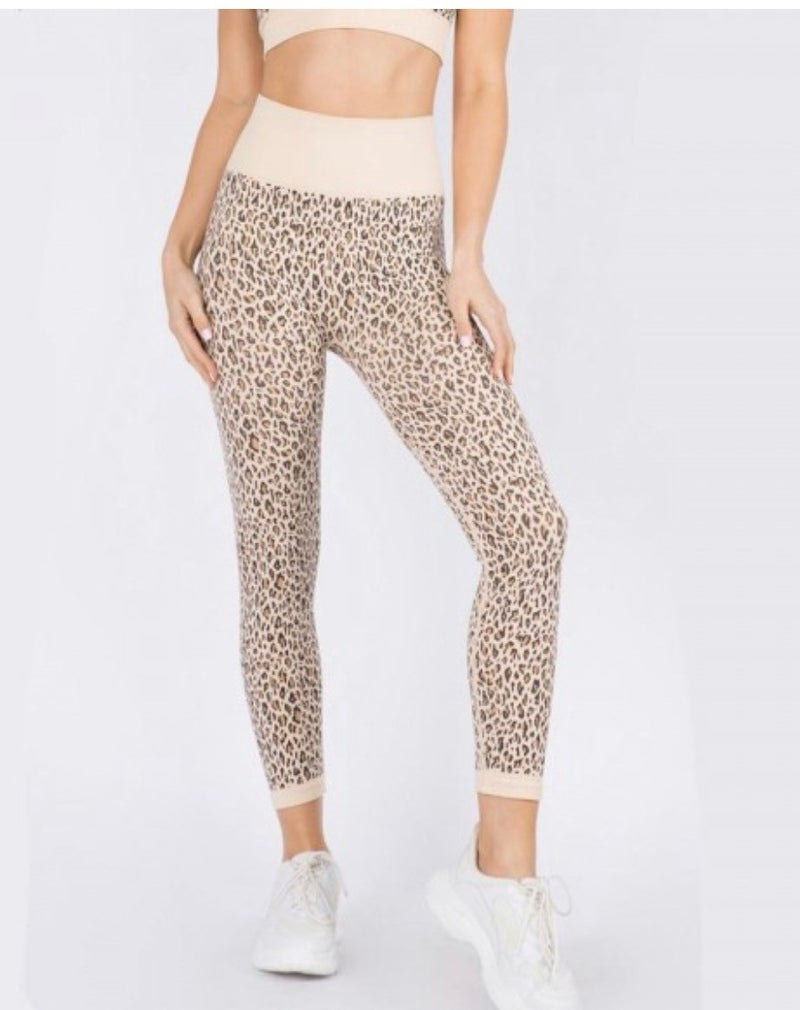 Seamless Leopard Leggings
