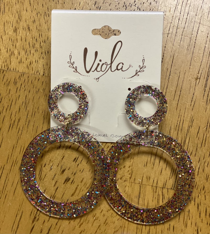 Multicolor circle earrings