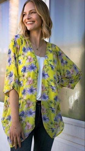 Lemon Floral Kimono