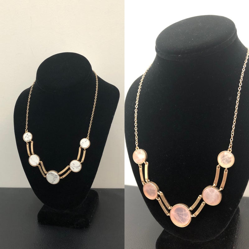 Marble stone necklace
