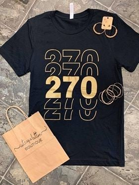 Gold and Black 270 Tee