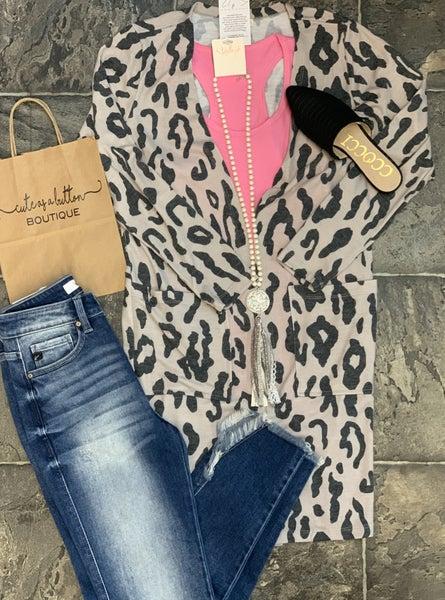 Long Leopard Cardigan