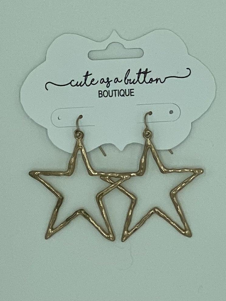 Silver Star earrings