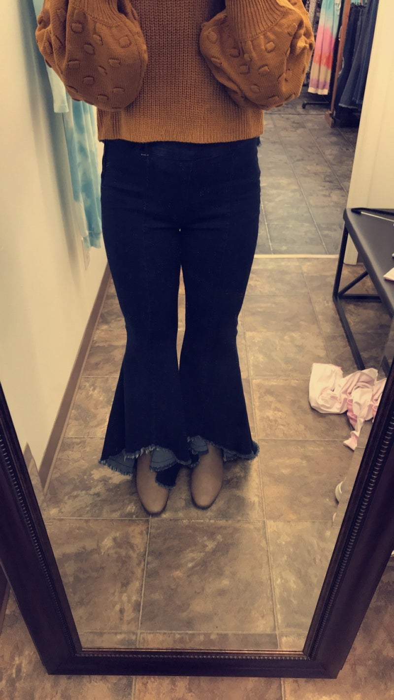 High-Rise Bell Bottom Jeans