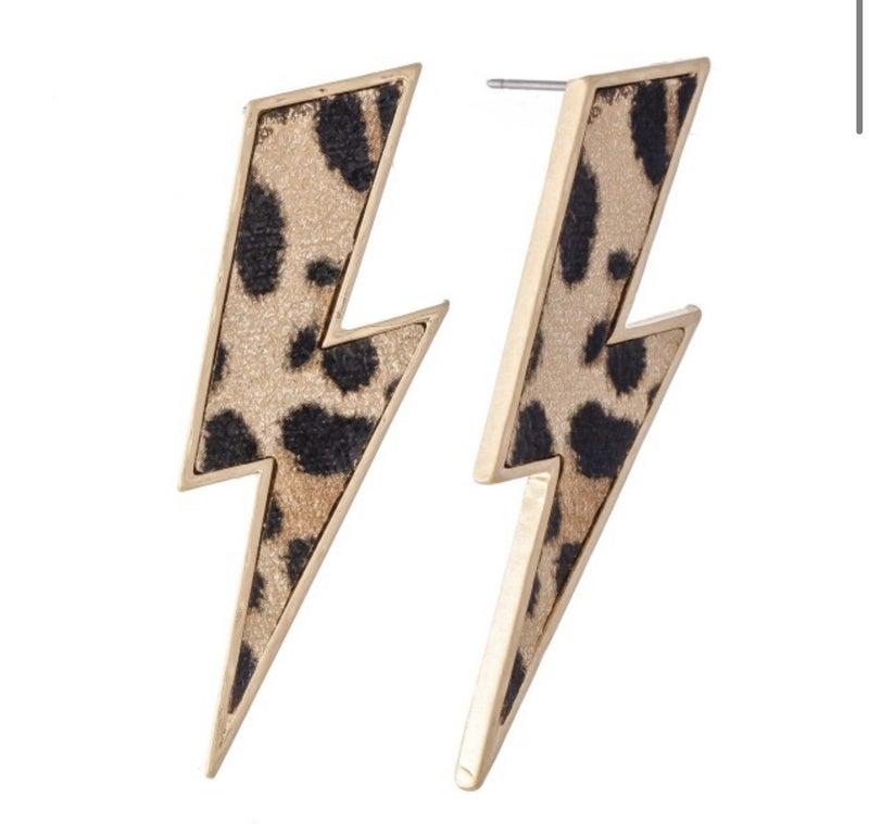 Leopard lightening bolts