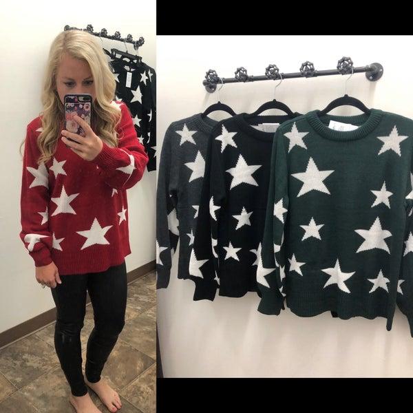 Crewneck Star Sweater