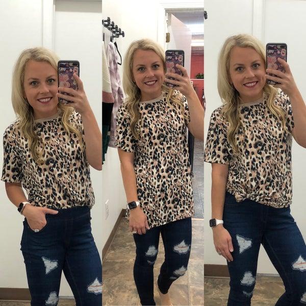 Everyday leopard top