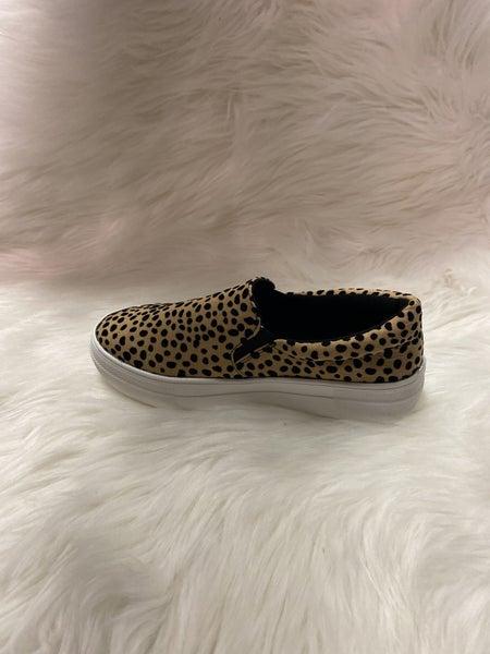 Animal Print Slip On Shoes