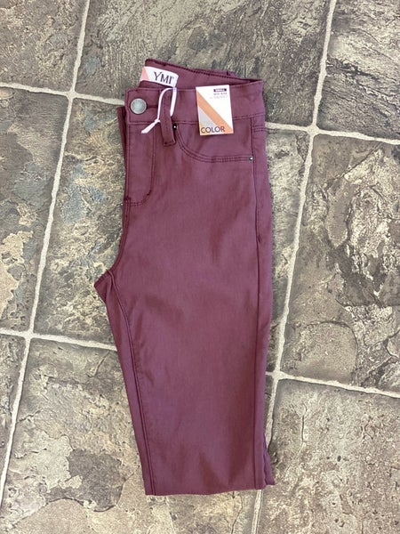 Hyperstretch jeggings in plum