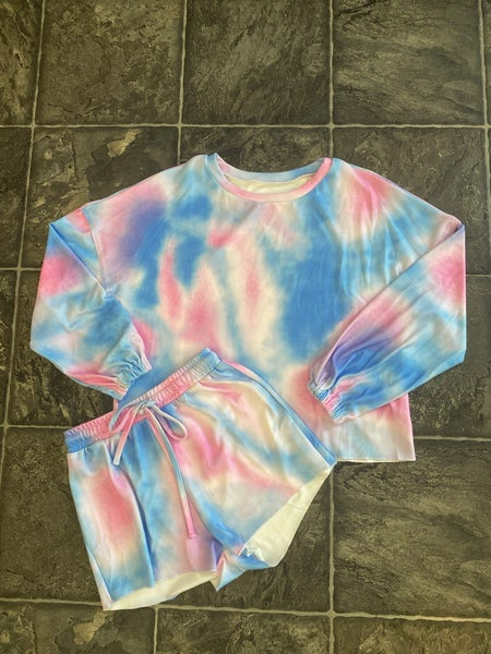 Tiedye Long Sleeve Shorts Set