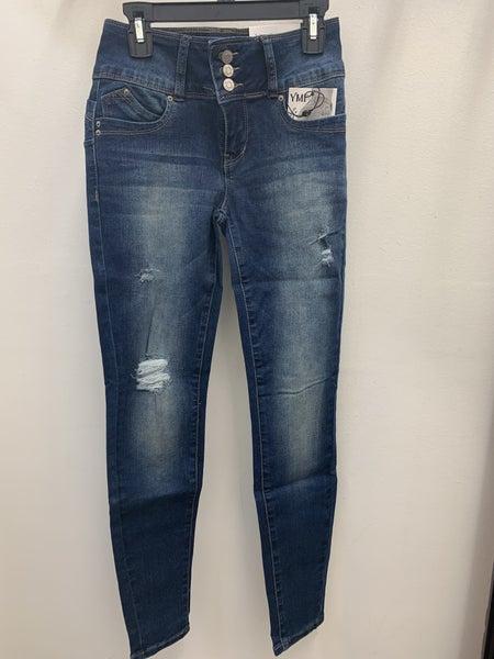 Wanna Betta Butt Distressed 3 Button-Fly Jean