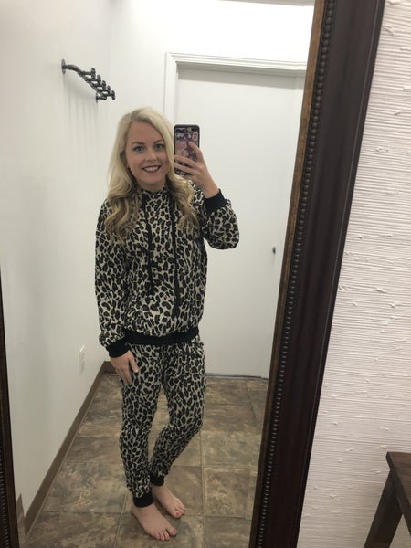 Leopard Hoodie and Jogger Set