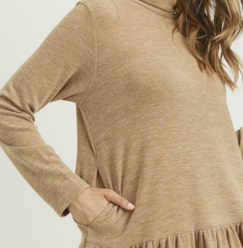Cowl Neck soft Tunic Dress