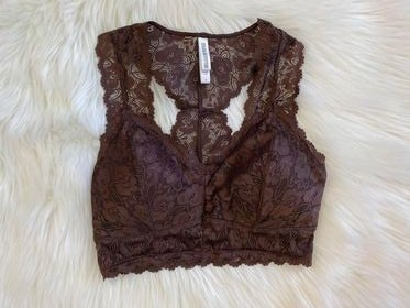 Brown Lace Bralette