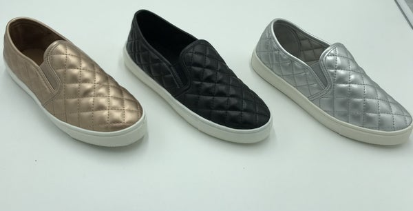 Quilted Slip-On Shoes
