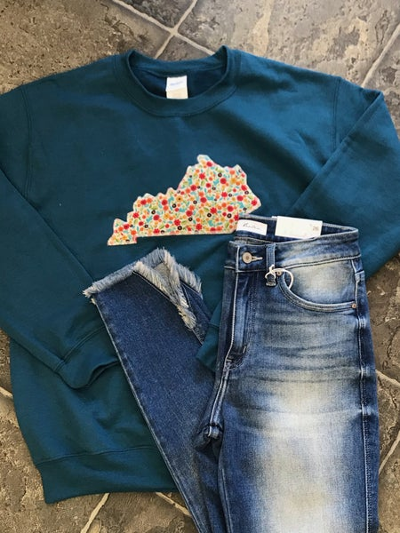 Dark Teal Crewneck Sweatshirt