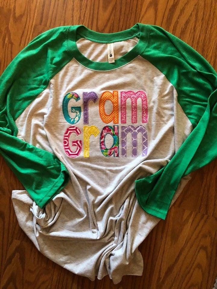Bright color Name Green Sleeve Raglan