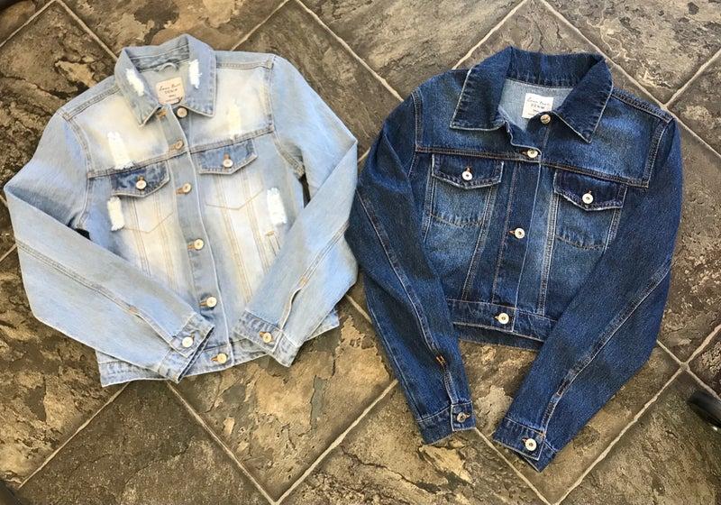 Semi cropped denim jackets