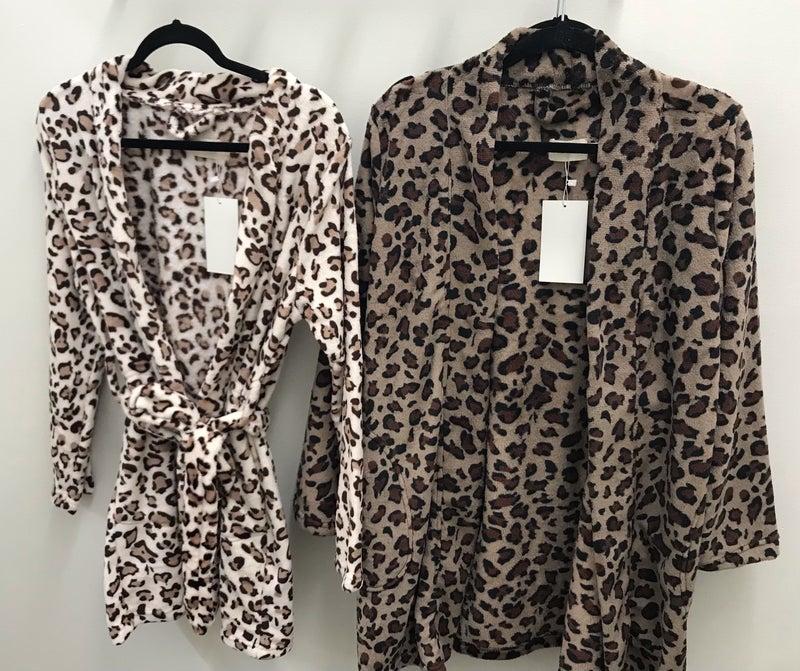 Soft leopard robe