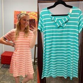 Stripe X Back Dress