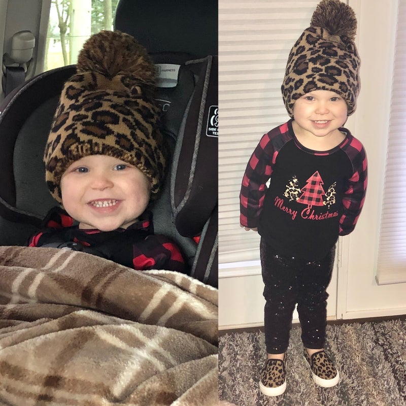 FITS KIDS OR ADUTLS! Leopard beanie