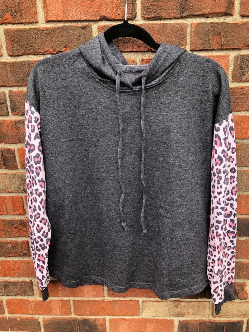 Pink Leopard Hooded