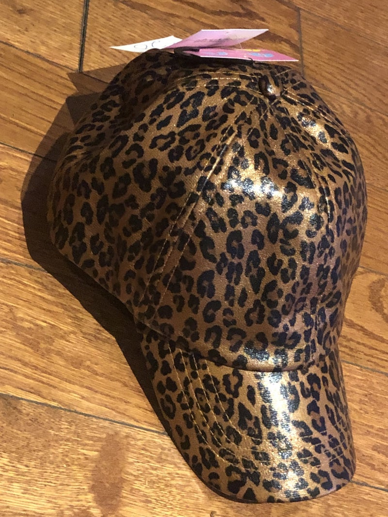 Shiny Leopard Pony hat