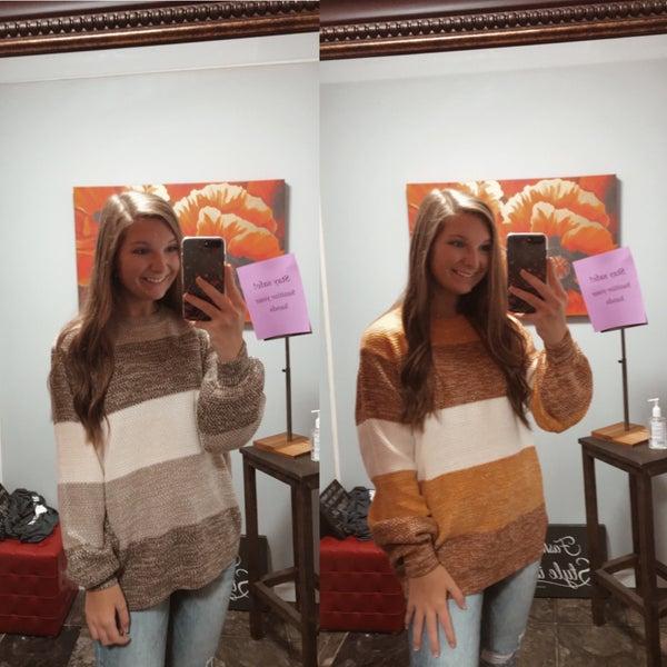Striped cozy sweater