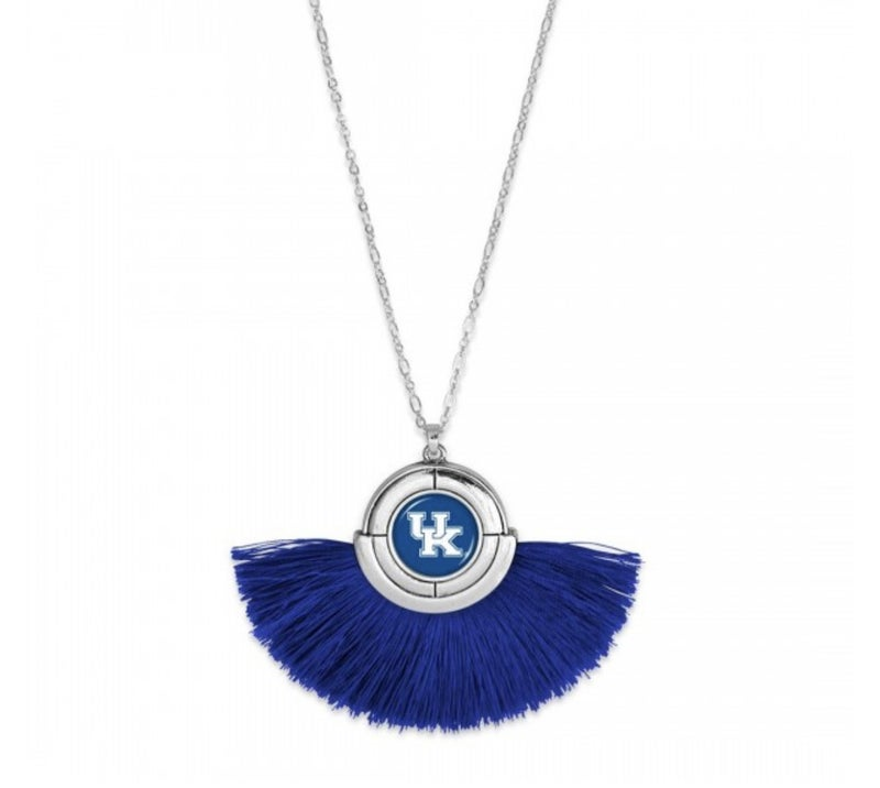 Kentucky Game Day Tassel Pendant Necklace