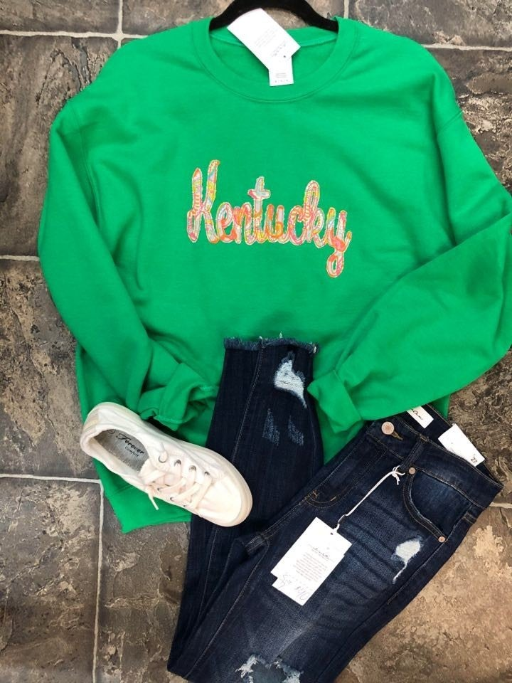 Kentucky Script Green Sweatshirt