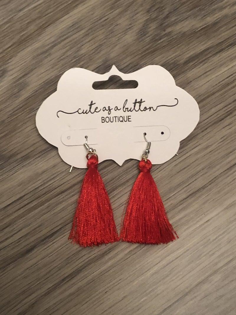 Tassel earrings- RED