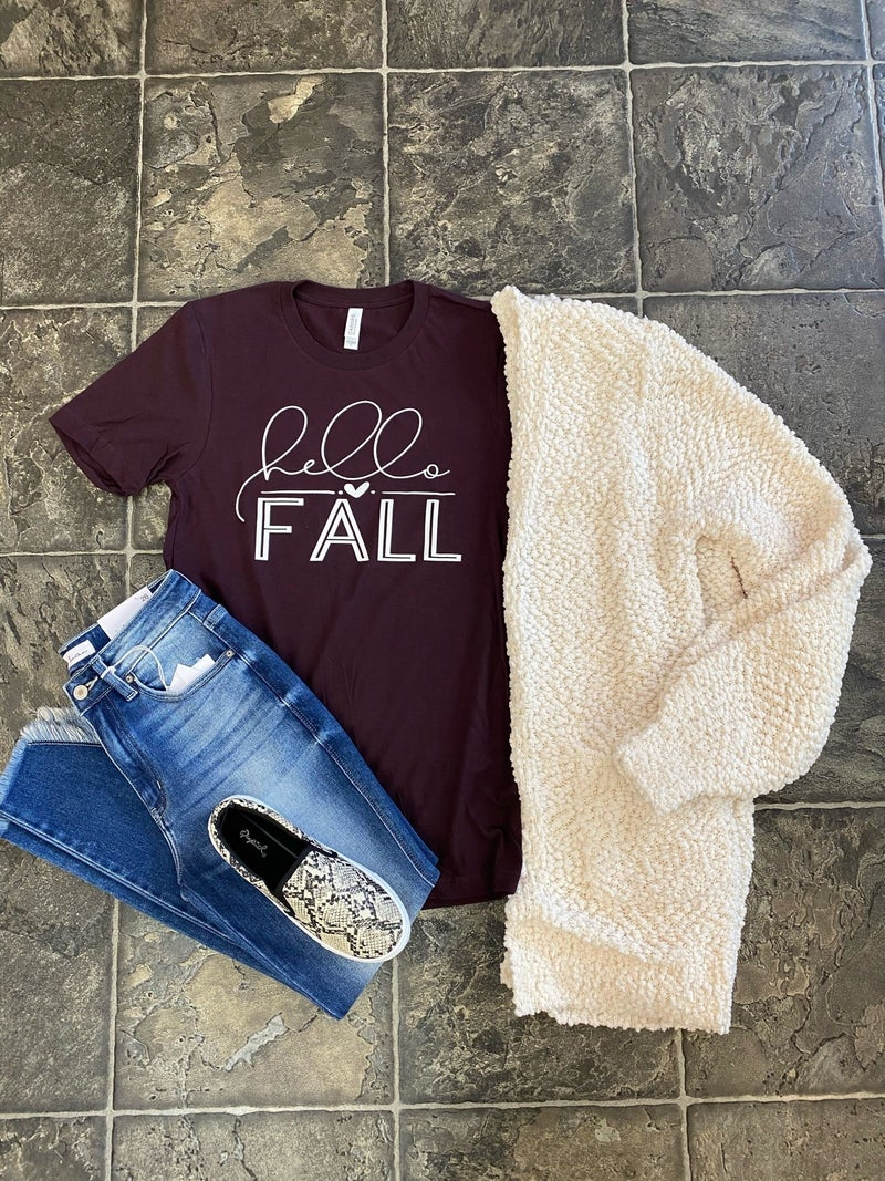 Hello fall graphic tee
