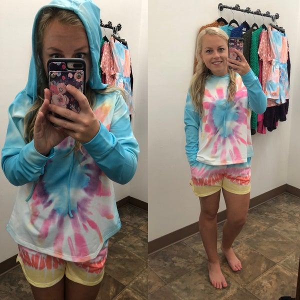 Tie dye hoodie set