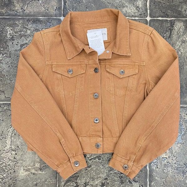 Orange-rust denim jacket