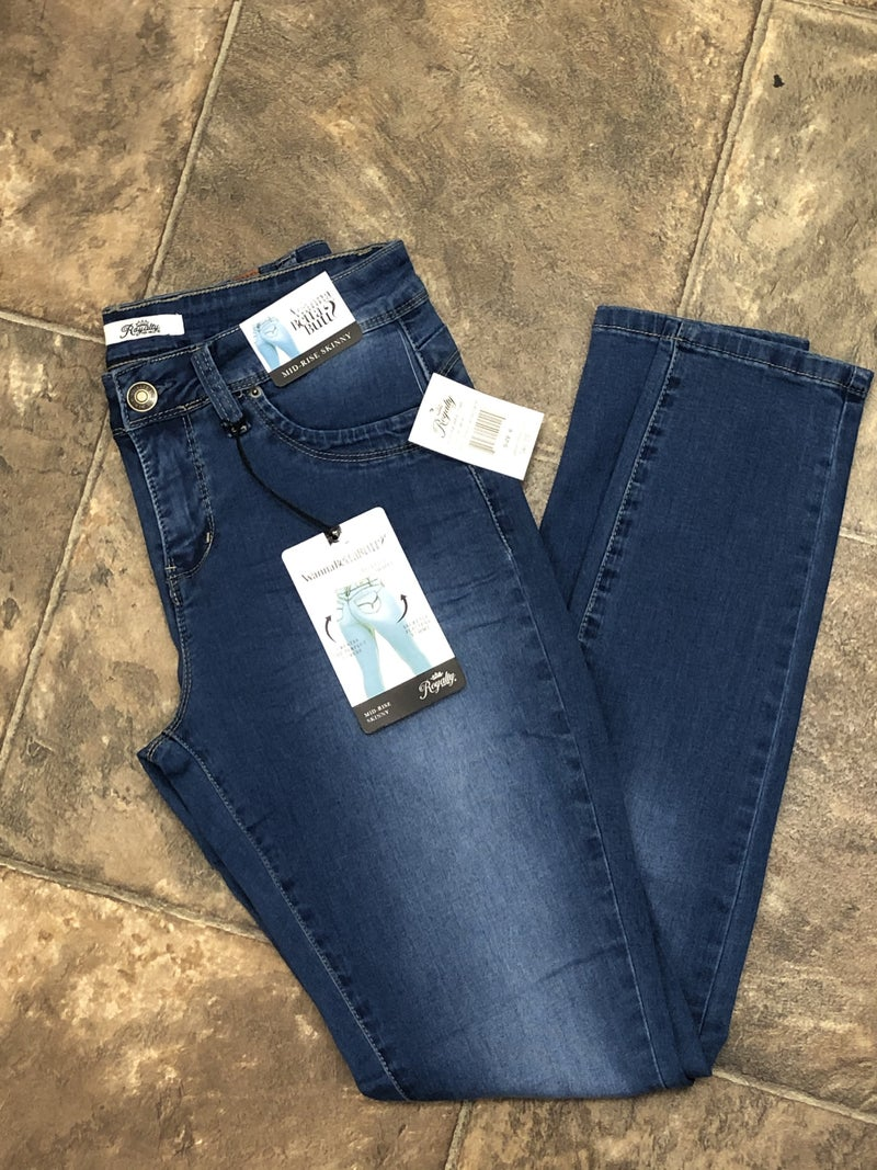Royalty Mid Rise Skinny Jeans