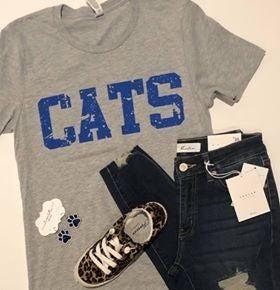 Gray CATS Tee