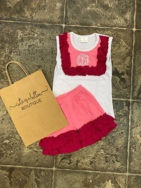 Sweet Pink Monogram Set