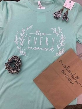 Mint Live Every Moment Tee