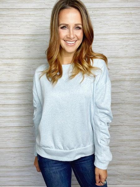 Berkley Shirred Sleeve Pullover