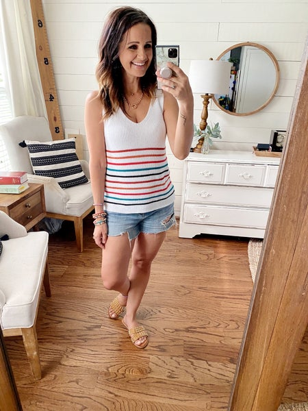 FINAL SALE - Chelsea Stripe Sweater Tank