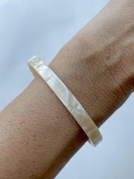 Ivory Acrylic Bangle