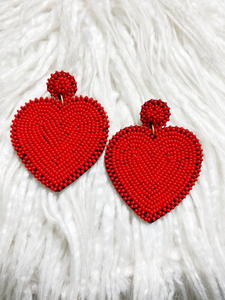 Felicity Beaded Heart Earrings