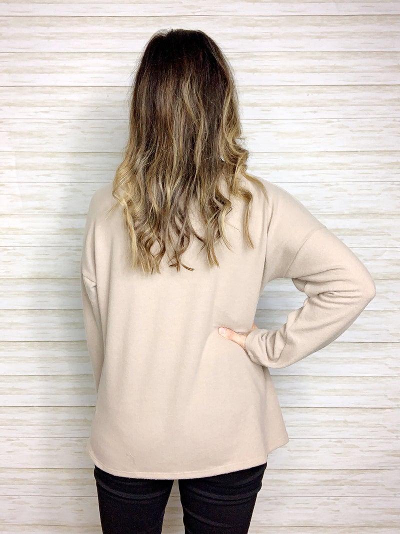 FINAL SALE - Claire Twist Front Long Sleeve Top