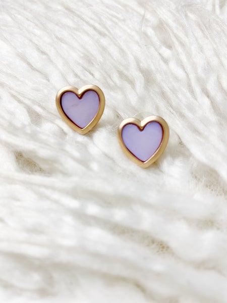Sarasota Heart Studs - Lavender