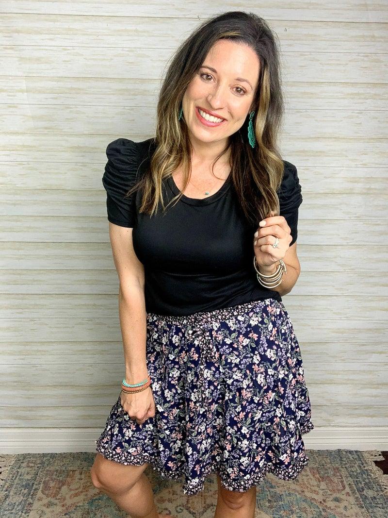 Savannah Floral Print Skirt