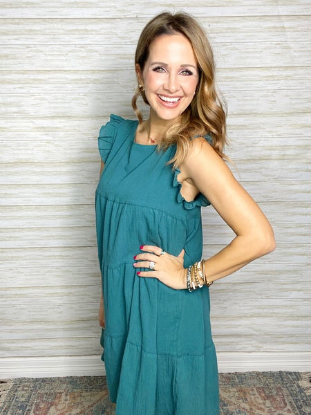 FINAL SALE - Sawyer Tiered Construction Dress