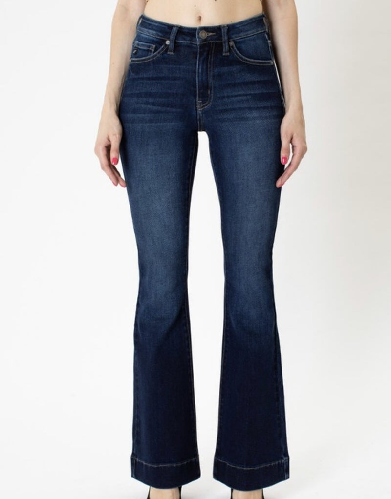 FINAL SALE - Hopewell High Rise Flare Leg Jeans - Dark Wash