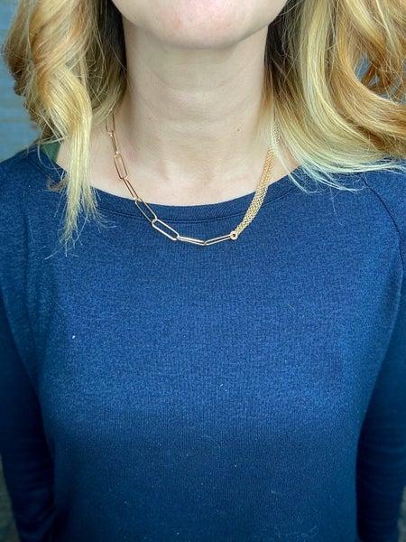 Ruby Half & Half Necklace